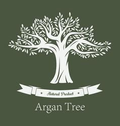 argania tree or argan fruit plant vector image