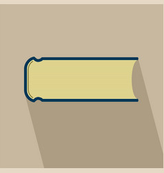 Book flat design with long shadow vector