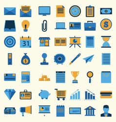 Business icon set collection vector image vector image