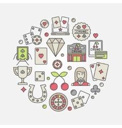 Casino flat vector image vector image