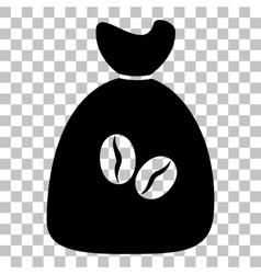 Coffee bag icon vector