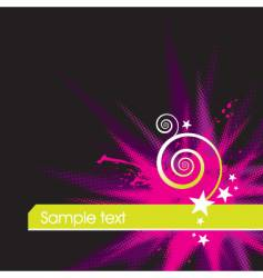 color explosion stars and curl vector image vector image