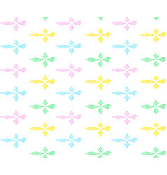 colorful rhombs in row with zigzag vector image vector image