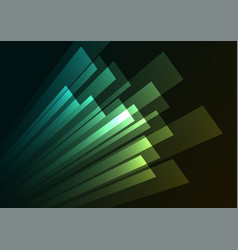 corner speed rush green bar abstract background vector image vector image