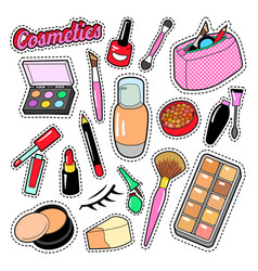 cosmetics beauty fashion makeup elements vector image vector image