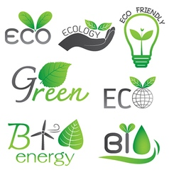 Ecology and Bio Energy Icons vector image