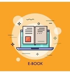 Electronic book icon digital reading concept vector