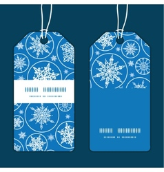 Falling snowflakes vertical stripe frame pattern vector