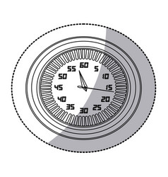 figure round clock icon vector image vector image