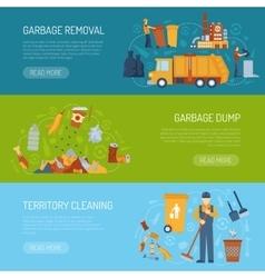 Garbage concept banner vector