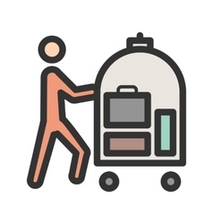 Hotel bellhop cart icon image can also vector