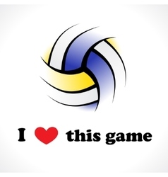 I love this game vector image