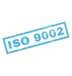 Iso 9002 rubber stamp vector