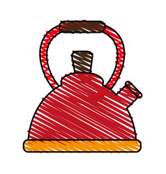 Kettle or teapot icon image vector