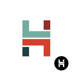 letter h industrial style logo design vector image vector image