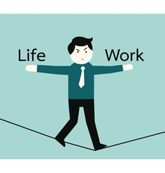 lifeandwork vector image vector image