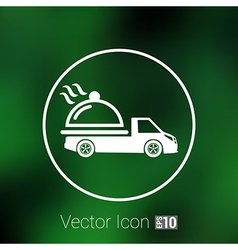 Logo design for meal delivery service vector