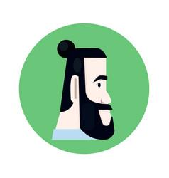 man with beard vector image