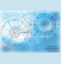 Mechanical engineering drawings background for vector