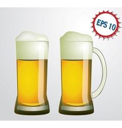 mug with beer vector image