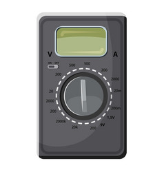 Multimeter voltmeter icon cartoon style vector