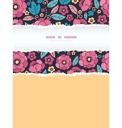 Night Kimono Blossom Vertical Torn Frame Seamless vector image