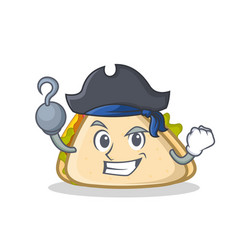 Pirate sandwich character cartoon style vector
