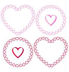 Ribbon heart frames clipart set vector