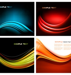 set of abstract business backgrounds vector image