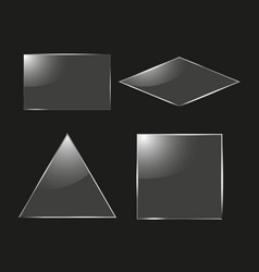 set of glass square rectangular and round frames vector image vector image