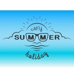 The emblem on the theme of the summer vector image vector image