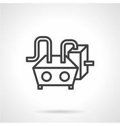 Water heating black line icon vector