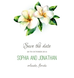 Wedding invitation watercolor vector