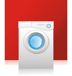 white washing machine vector image vector image