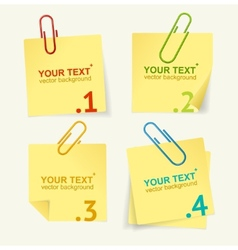 yellow paper option banner vector image vector image
