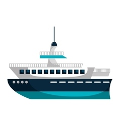 Cruise ship silhouette isolated icon vector