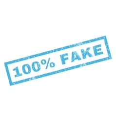 100 percent fake rubber stamp vector