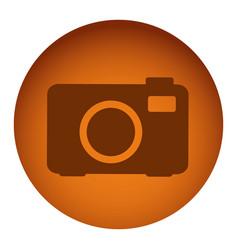 orange emblem camera icon vector image