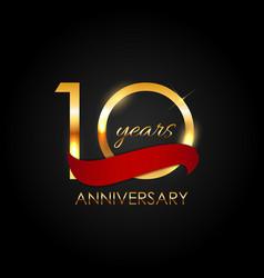 Template 10 years anniversary vector