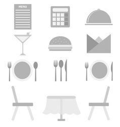 Restaurant icons on white background vector image