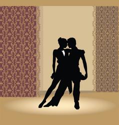Dancing club poster couple dancing beautiful vector