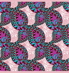 Pink paisley ornate seamless pattern seamless vector