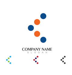 C letter logo business template vector
