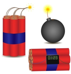Pyrotechnic set vector