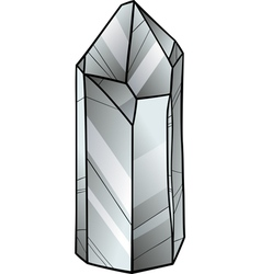 Quartz or crystal cartoon vector