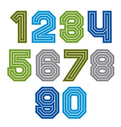 Colorful regular acute-angled digits bright vector
