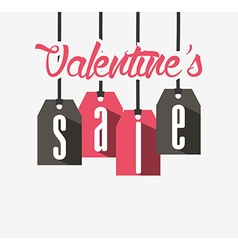 Valentines sale design vector