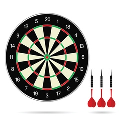 Dartboard with arrows color vector