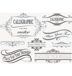 Calligraphic frame set vector