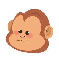 Monkey face cartoon icon vector